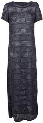 Bruno Manetti Long Metallic Detailed Dress