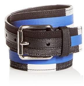 Burberry Fife Striped Check Belt