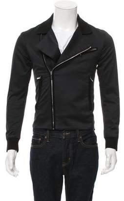 Christian Dior Rib Knit-Trimmed Moto Jacket