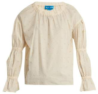 MiH Jeans Bubble Fil Coupe Cotton Blend Top - Womens - Cream