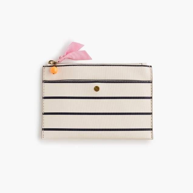 Striped medium pouch