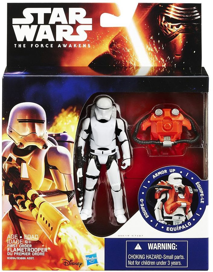 Hasbro Star Wars: Episode VII The Force Awakens 3.75-in. Space Mission Armor First Order Flametrooper Figure by Hasbro
