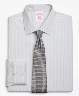 Brooks Brothers Madison Classic-Fit Dress Shirt, Non-Iron Tonal Framed Stripe