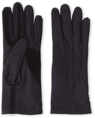 Isotoner Black Stretch Classics Fleece-Lined Gloves