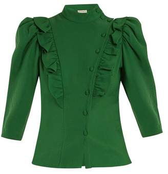 Vika Gazinskaya High-neck ruffle-trimmed blouse