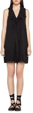 BCBGeneration Sleeveless Ruffled A-Line Dress