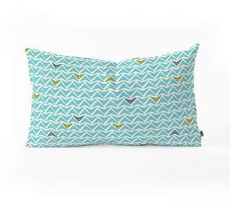 Deny Designs Heather Dutton Take Flight Aqua Oblong Throw Pillow