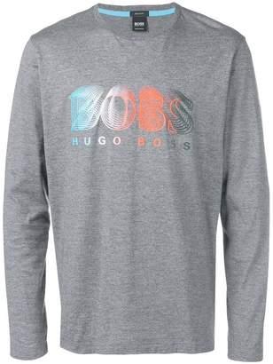HUGO BOSS logo graphic jersey top