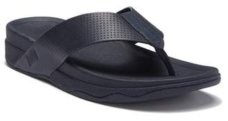 FitFlop Surfer Perforated Leather Flip Flop