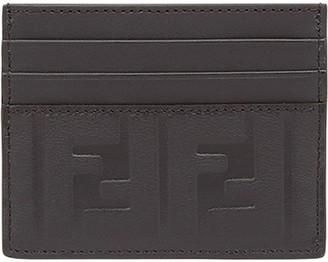 Fendi logo embossed card holder
