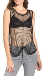 Sentimental NY Chain Mesh Sleeveless Top