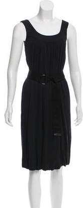 Akris Punto Pleated Sleeveless Dress