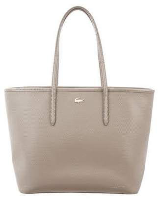 Lacoste Embossed Leather Tote