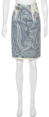 Pauw Printed Wrap Knee-Length Skirt