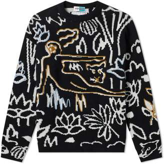 Kenzo Rousseau Embroidered Crew Knit