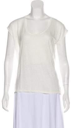 Rag & Bone Semi-Sheer Scoop Neck T-Shirt