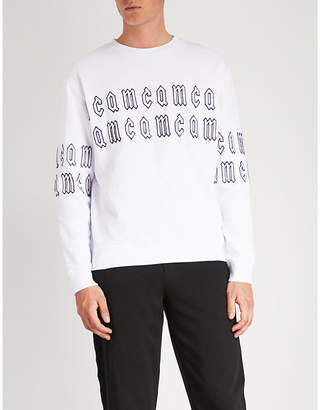 McQ Logo-embroidered cotton-jersey sweatshirt