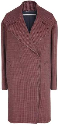 Stella McCartney Wide Lapel Checked Coat