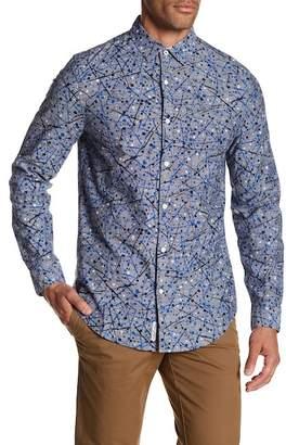 Original Penguin Long Sleeve Splatter Heritage Slim Fit Shirt