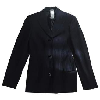 Gianni Versace Navy Wool Jacket for Women Vintage