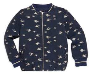 Lili Gaufrette Little Girl's Bird Bomber Jacket