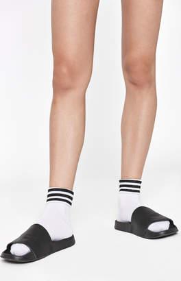 adidas White Mesh Ankle Socks