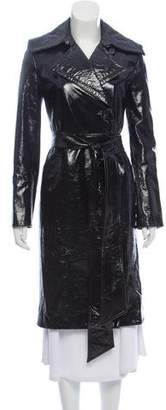 Helmut Lang Patent Leather Trench Coat
