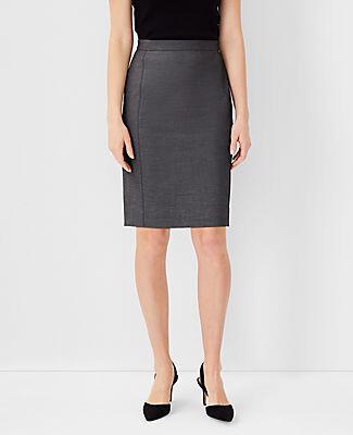 Ann Taylor The Petite Pencil Skirt in Grey Bi-Stretch