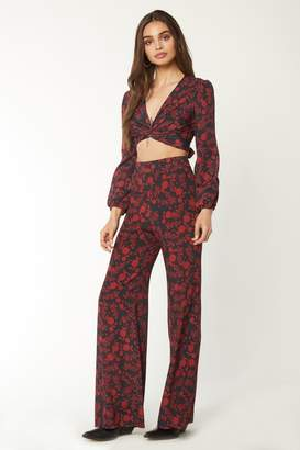 Flynn Skye Long Sleeve Thats A Wrap Crop Top - Blooms At Dawn
