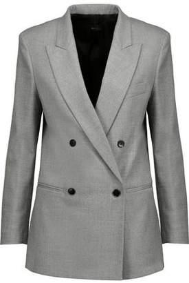 Joseph Heather Double-Breasted Wool-Blend Flannel Blazer