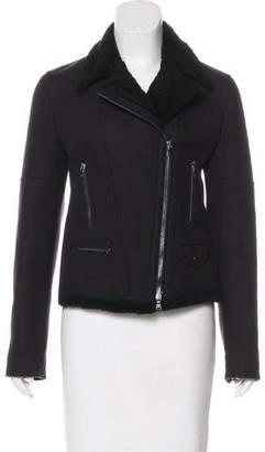 Neil Barrett Shearling-Trimmed Wool Jacket