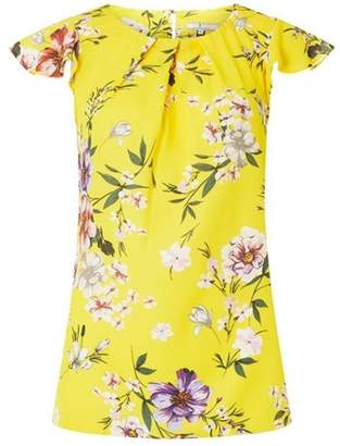Dorothy Perkins Womens **Billie & Blossom Tall Ochre Floral Print Shell Top
