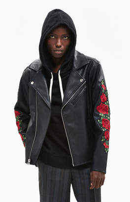 PacSun Gallery Embroidered Floral Moto Jacket