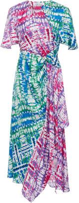 Prabal Gurung Tie-Dye Silk Asymmetric Midi Dress