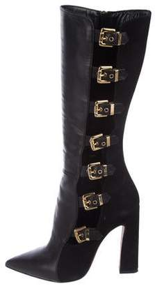 Chiara Ferragni Leather Mid-Calf Boots