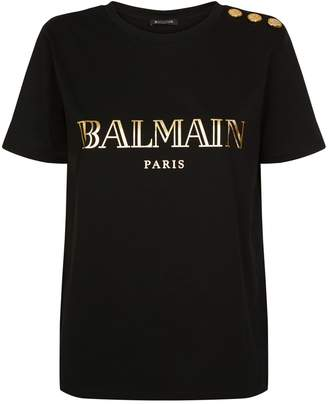 Balmain Button Logo T-Shirt