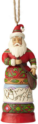 Jim Shore Santa with Satchel Ornament