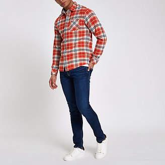 River Island Pepe Jeans dark blue skinny fit jeans