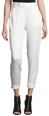 DKNY Tailored Stretch Crepe Cropped Pants, Gesso $298 thestylecure.com