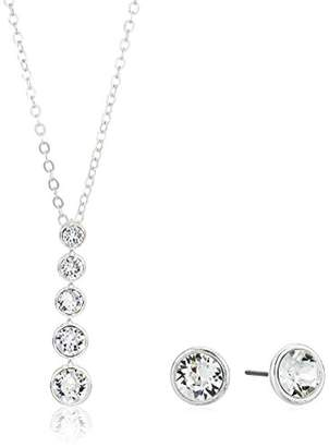 Nine West Silver-Tone And Linear Pendant Earrings Set