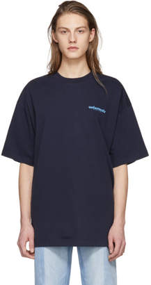 Vetements Navy Fiber Optic T-Shirt