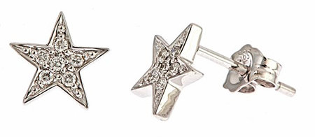 Brian Danielle White Gold Diamond Star Studs