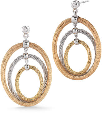 Alor Multi-Hoop Drop Earrings w/ Diamonds