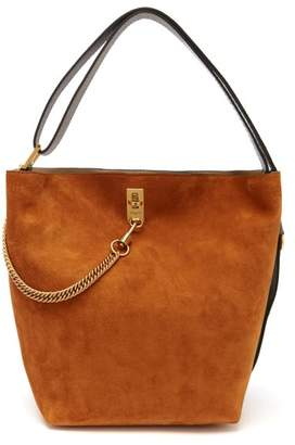 Givenchy Gv Suede And Leather Bucket Bag - Womens - Black Tan