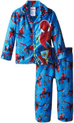 Marvel Little Boys' Spiderman Webs Coat Pajama Set,Multi