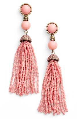 Women's Baublebar 'Artemis' Beaded Tassel Drop Earrings $34 thestylecure.com