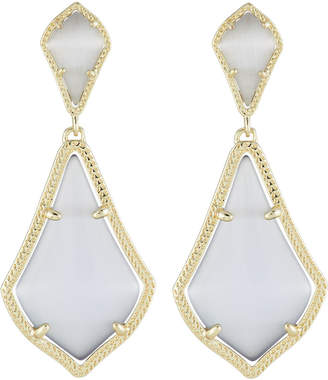 Kendra Scott Alexa Statement Drop Earrings, Slate Cat's Eye