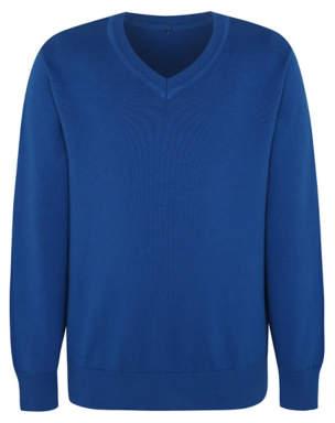 George Cobalt Blue V-Neck School Jumper