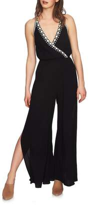 1 STATE 1.STATE Embroidered Halter Jumpsuit