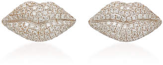 Colette Jewelry 18K Gold and Diamond Lip Earrings